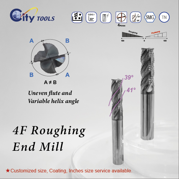 4F Roughing End Mills